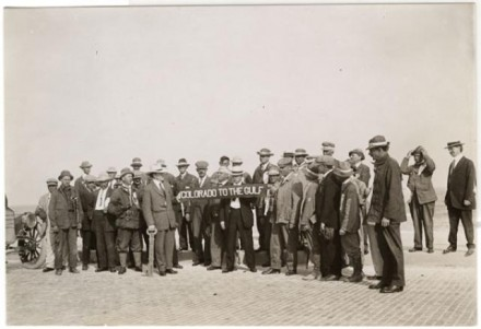 """(""""[Key to Galveston],"""" photographer unknown, 1915. Courtesy of Special Collections, Pikes Peak Library District. Image Number: 102-10208.)"""