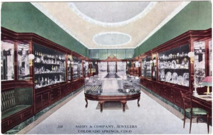 """Ashby and Company Jewelers,"" date unknown. Courtesy of Special Collections, Pikes Peak Library District. Image Number: 208-9683."