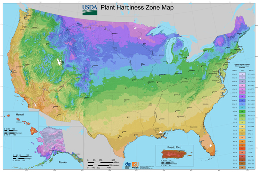 Plant hardiness zone map and climatological changes for Gardening zones colorado