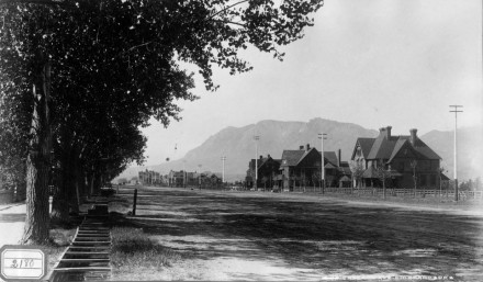 """Cascade Ave., Colorado Spr's,"" by William Henry Jackson, ca. 1882-1900. Courtesy of the Denver Public Library. Call Number: WHJ-774."