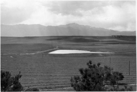 """Pastures Terraces and Dam,"" photographer unknown, date unknown. Courtesy of Special Collections, Pikes Peak Library District. Image Number:  098-6917."
