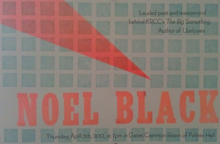 Noel Black Reading Poster CC 2012