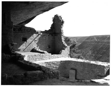 """Balcony House, Mesa Verde"" by Myron Wood, June 1965. Copyright Pikes Peak Library District, courtesy of Special Collections. Image Number: 002-2979."