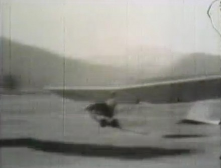The Cheyenne Mountain School Glider, ca. 1931, still from film shot by Cheyenne Mountain School Principal Lloyd Shaw.
