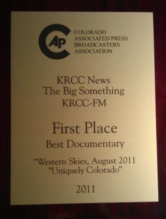 KRCC AP Award 2012