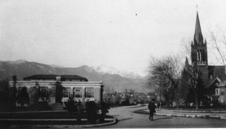 """Kiowa Street Looking West"", ca. 1907, photographer unknown. Courtesy of Special Collections, Pikes Peak Library District. Image Number: 001-558."