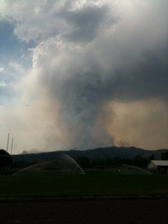 Waldo Canyon Fire, 3:15pm, 6/24/12 (Chalfin)