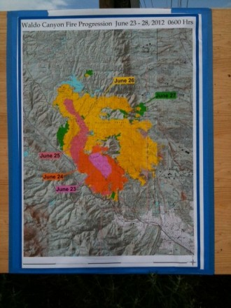 6/26/12 progress map Waldo Canyon Fire