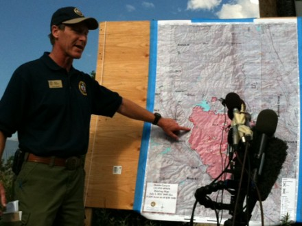 Incident Commander Rich Harvey, 7/1/12 press briefing, 8am