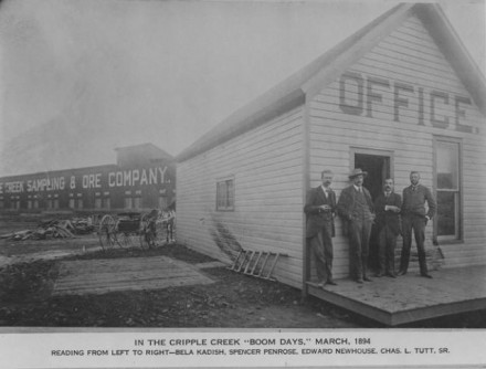 """""""In the Cripple Creek Boom Days, March, 1894"""" photographer unknown. Courtesy of Special Collections, Pikes Peak Library District. Image Number: 001-268."""