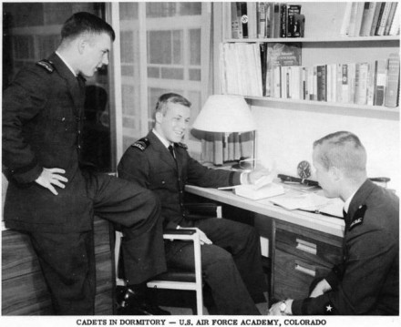"""Cadets in Dormitory"", photographer unknown, date unknown. Courtesy of Special Collections, Pikes Peak Library District. Image Number: 001-4652."