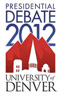 University of Denver Presidential Debate 2012 Logo