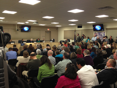 D-11 School Board Meeting. Photo: Liz Ruskin.