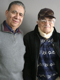 "Ruben Aguilar, 85, (at right) spoke with his friend Bill Luna, 77, about being deported to Mexico at six years old: ""I grew up when that happened. From six years old, all of a sudden I felt like I was 15."""