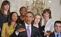 President Obama speaks about the Affordable Care Act at the White House on May 10.