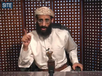 A Nov. 2010 file image of Anwar al-Awlaki taken from video and released by SITE Intelligence Group.