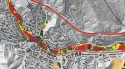 Flash Flood Risk Analysis of the Waldo Canyon Burn Scar - Map of Manitou Springs, from El Paso County Sheriff's Office