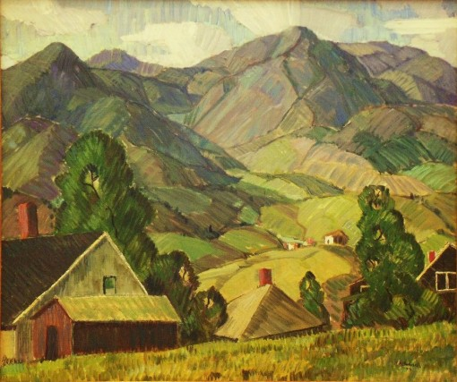 "Charles Bunnell, ""Contrasts,"" 1928, oil on canvas. Collection of James and Virginia Moffett"
