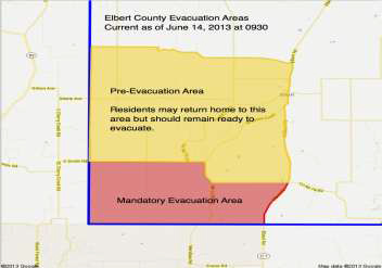 Map from Elbert County Sheriff's Office