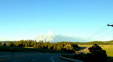 Black Forest Fire seen from Florrisant.