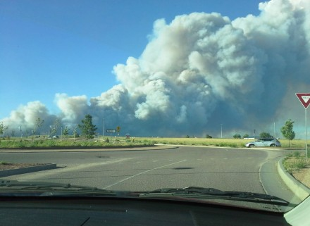 Black Forest Fire from Powers and Stetson Hills.