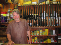 """We've always sold more guns when Democrats are in office than we ever sell when Republicans [are] in office,"" says Mitch May, the general manager at Clark Brothers Gun Shop in Warrenton, Va."