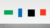 In this 2007 Ellsworth Kelly piece, four separate oil-painted canvases combine to form a single work, Green Blue Black Red.