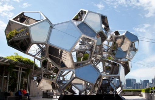 "Saraceno's ""Cloud City"" on the rooftop of the the Metropolitan Museum of Art earlier this year."
